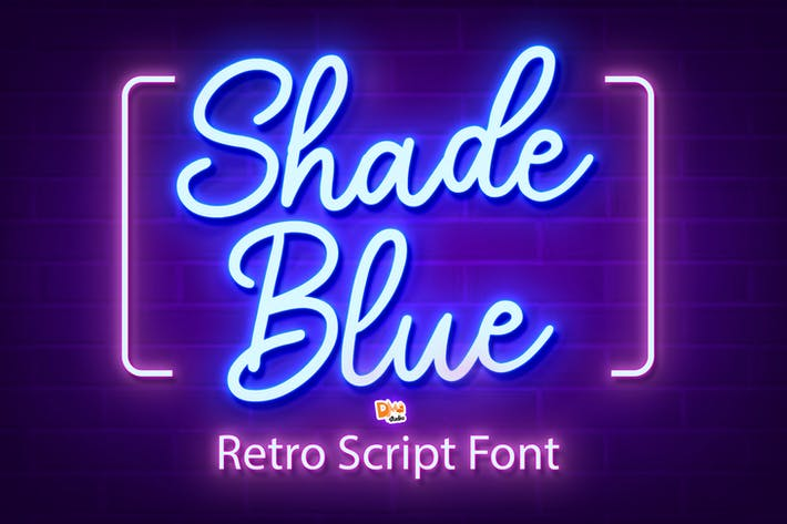Thumbnail for Shade Blue - Fuente de guión retro