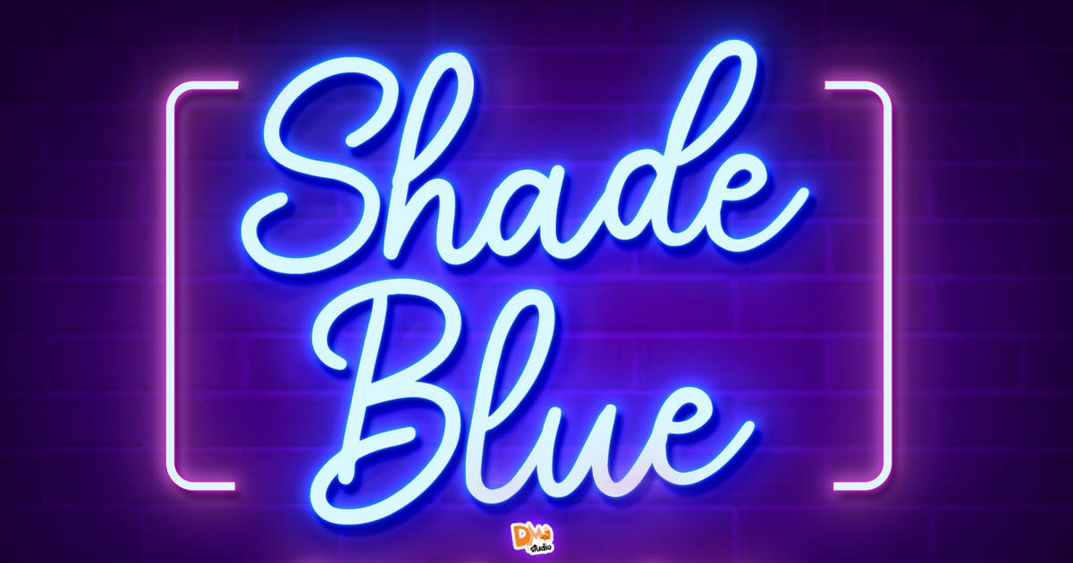 Download Shade Blue - Retro Script Font by DmLetter