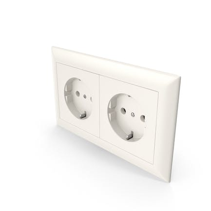 2x Wall Socket Outlet