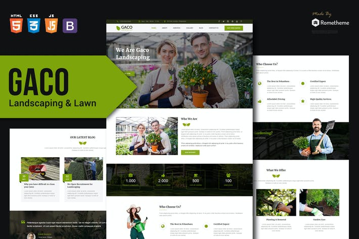 Thumbnail for Gaco - Landscaping & Gardening HTML Template
