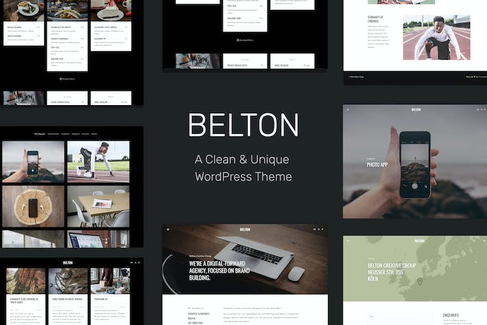 Thumbnail for Belton – Minimal Multipurpose WordPress Theme