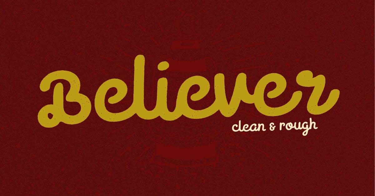 Download Believer Script Typeface by MartypeCo