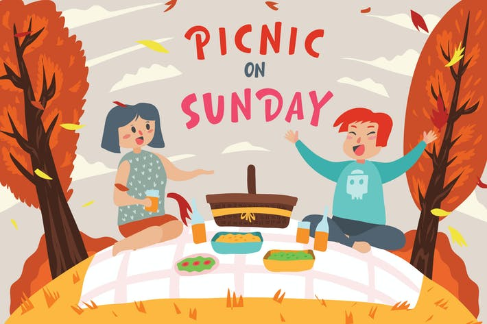 Thumbnail for sunday picnic - Vector Illustration