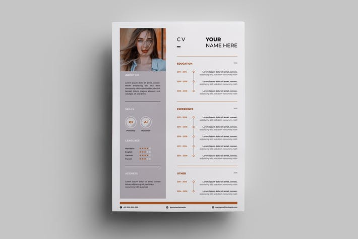 Thumbnail for Resume Design Templates.09