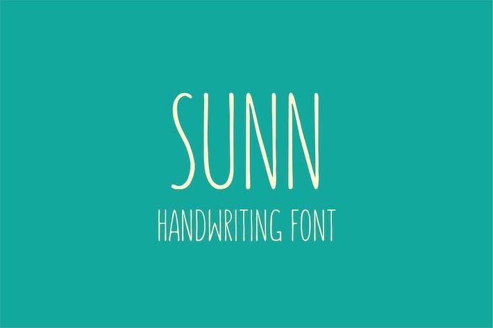 SUNN - Handwriting Font
