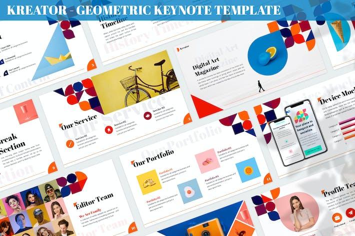 Kreator - Geometric Keynote Template