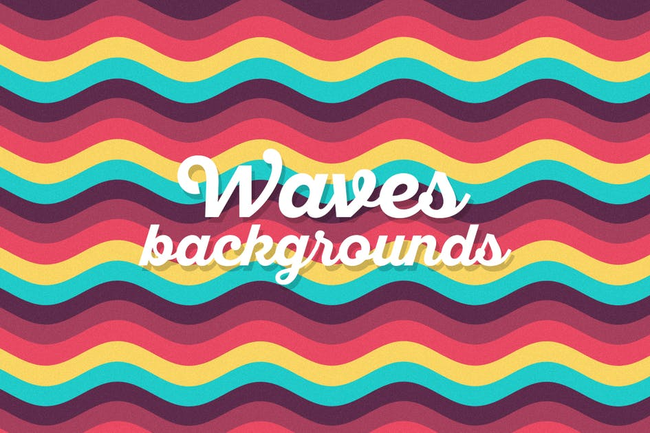 Download Colored Flat Waves Backgrounds by themefire