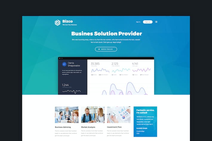 Thumbnail for Bizco - Business & Corporate HTML Template