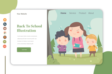 Back To School - Landing Page Template