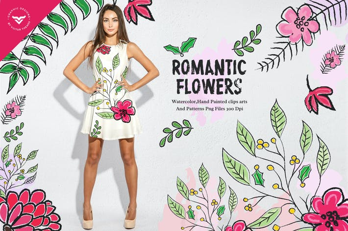 Thumbnail for Romantic Flowers Collection
