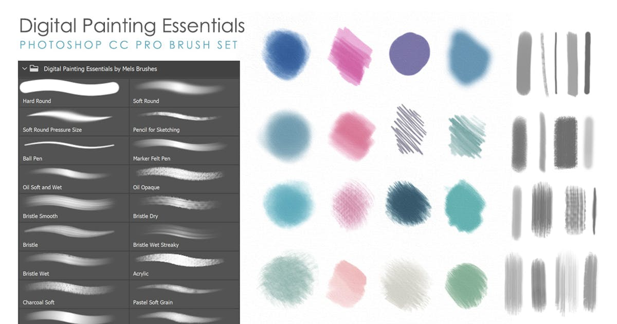 Download Artistic & Matte Painting Photoshop Brush Set by melrodicq