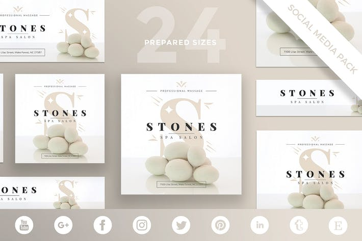 Spa Salon Social Media Pack Template