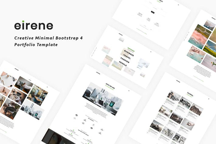 Thumbnail for Eirene - Creative Minimal Bootstrap 4 Template