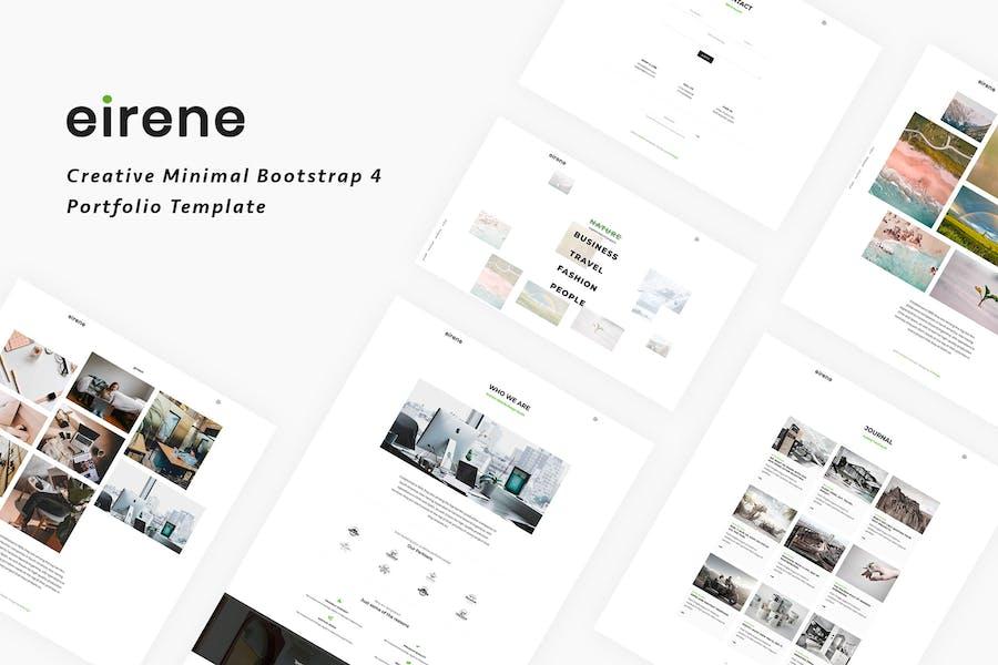 Eirene - Creative Minimal Bootstrap 4 Template