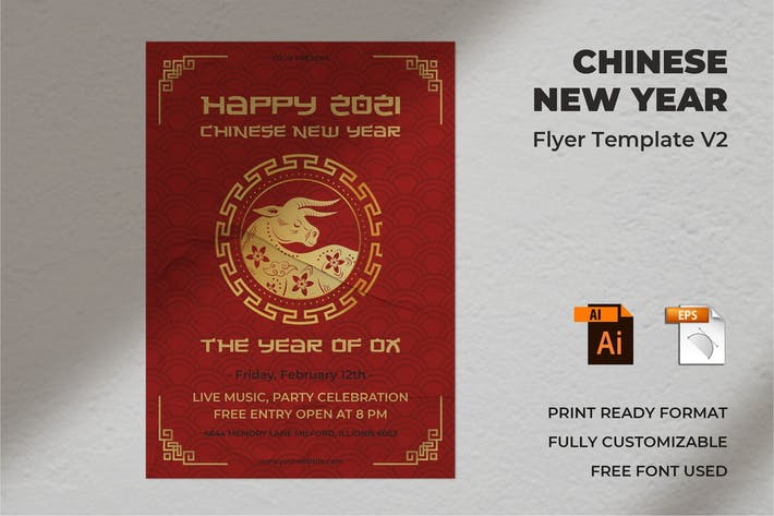 Thumbnail for Chinese New Year Flyer Template Vol. 02