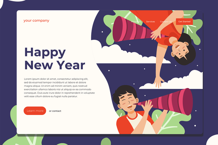 New Year Celebration - Landing Page