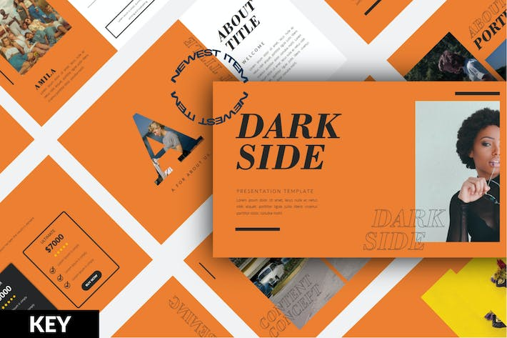 Cover Image For Darkside Business Keynote Template - LS