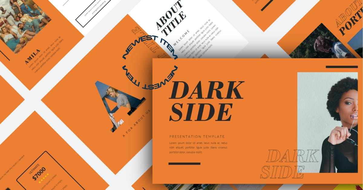 Download Darkside Keynote Template - LS by templatehere
