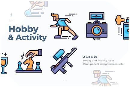 25 Icono de Hobby y actividad