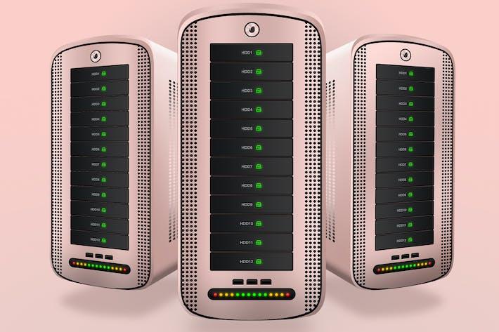 Thumbnail for Hosting Server Pro Rose Gold Series