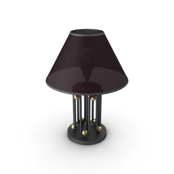 Lámpara de Mesa con Bola de Oro