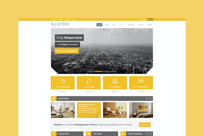 Thumbnail for Alcatron - Multipurpose PSD Template