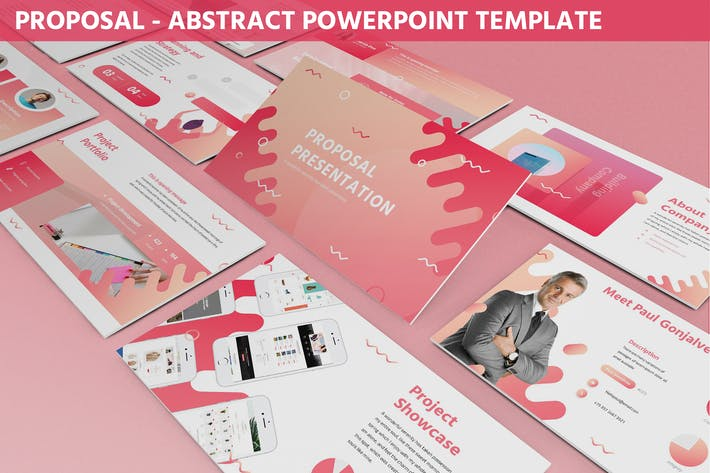 Thumbnail for Proposal - Abstract Powerpoint Template