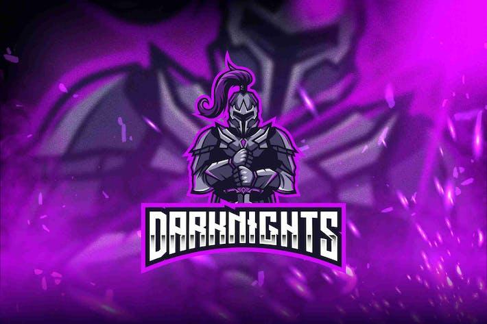 Thumbnail for Dark Knights Esport Logo Template