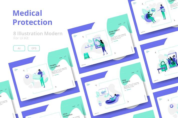 Thumbnail for Medical Protection  set Illustration