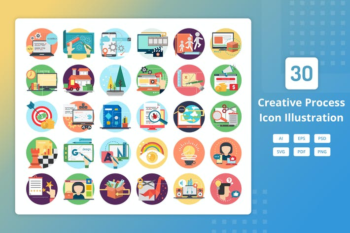 Thumbnail for Creative Process - Icon Illustration