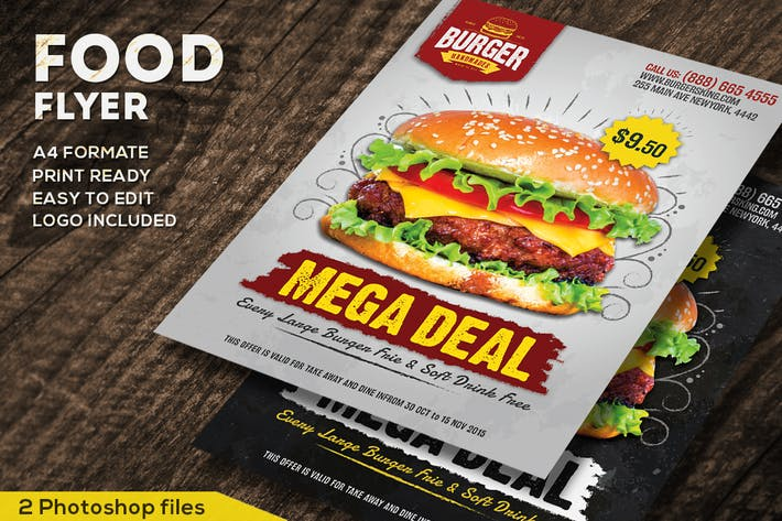 Cover Image For Food Promotional Flyer