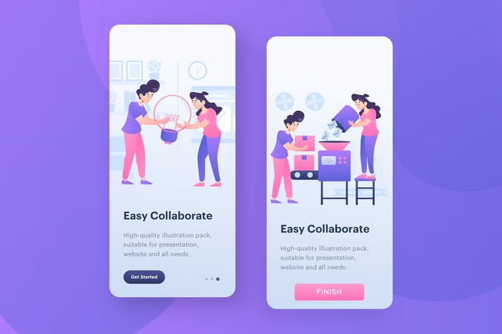 Thumbnail for Start Up Collaboration Illustration - Mobile Onboa