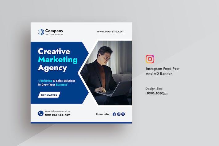 Kreativagentur & Marketing Instagram-Feed-Beitrag