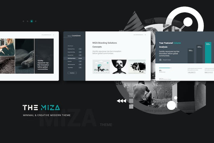 Thumbnail for Miza Clean & Business Template