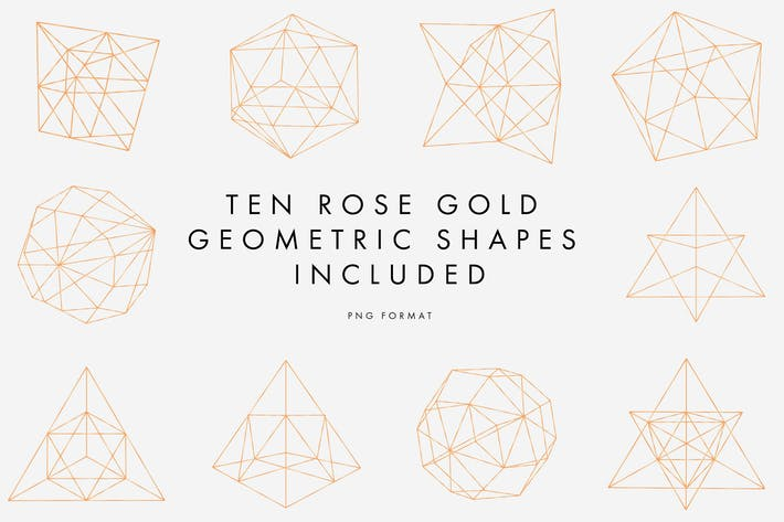 Thumbnail for Rose Gold Geometric Pattern