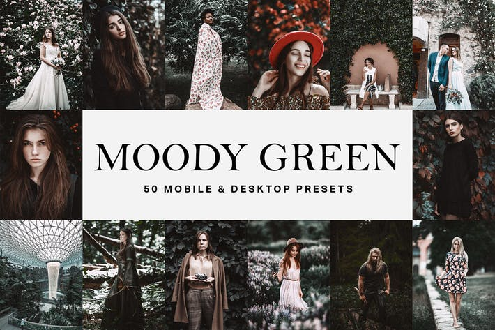 Thumbnail for 50 Moody Green Lightroom Presets