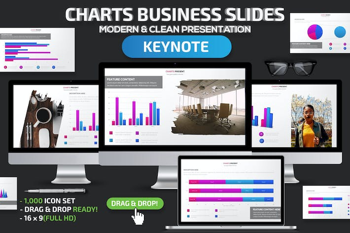 Thumbnail for Charts Business Keynote Slides