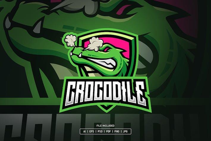 Crocodile esport logo template