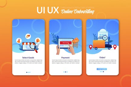 UI UX Bildschirm Vorlage