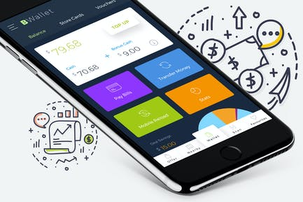 B Wallet Dashboard 6 Mobile Ui