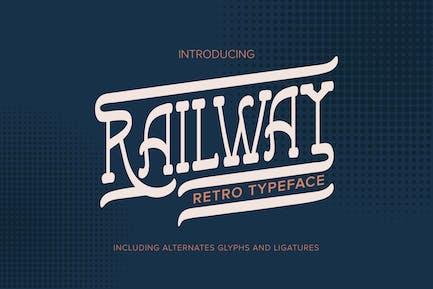 Railway | Retro Typeface