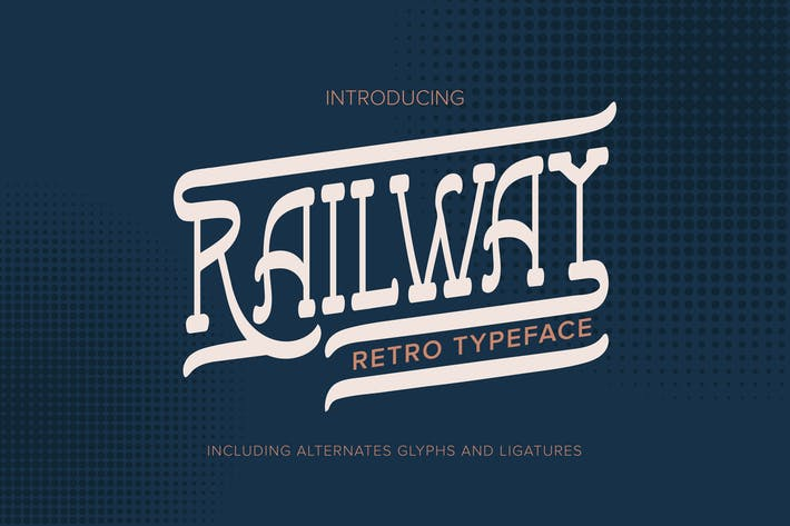 Thumbnail for Railway | Retro Typeface