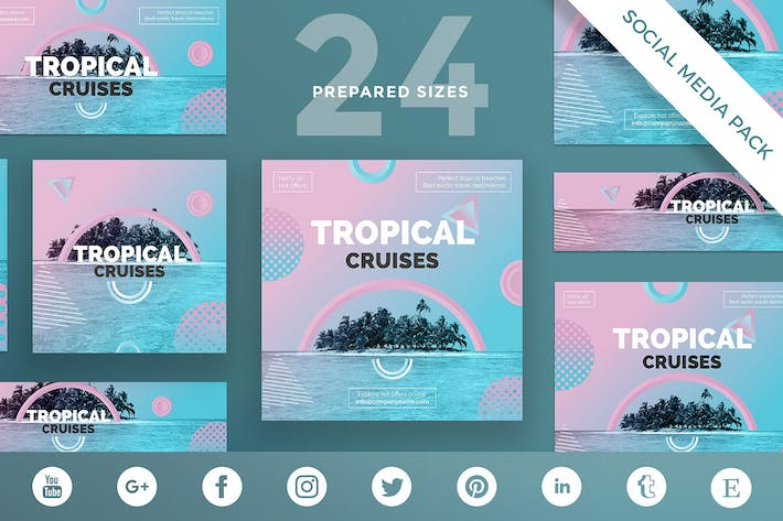 Travel Agency Social Media Pack Template