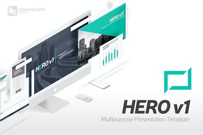 Thumbnail for Hero v1 Multipurpose Presentation Template