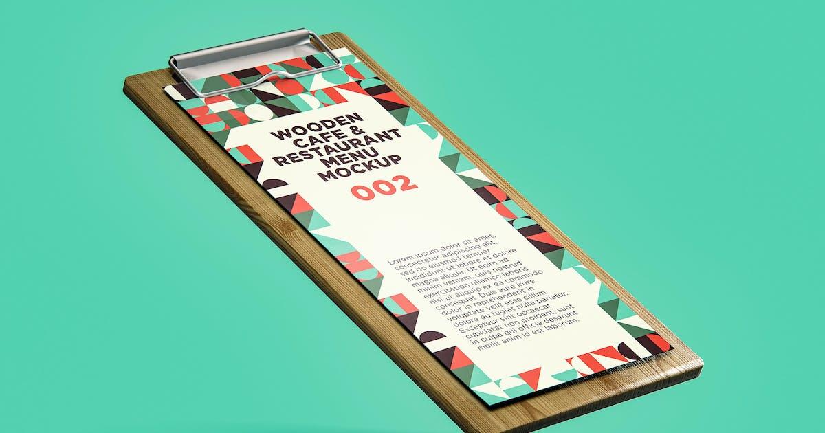 Download Wooden Cafe & Restaurant Menu Mockup 002 by traint