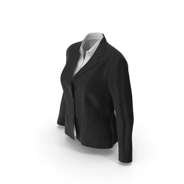 Женская куртка рубашка черный