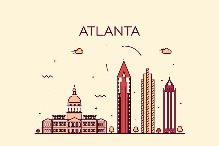 Thumbnail for Atlanta skyline, United States