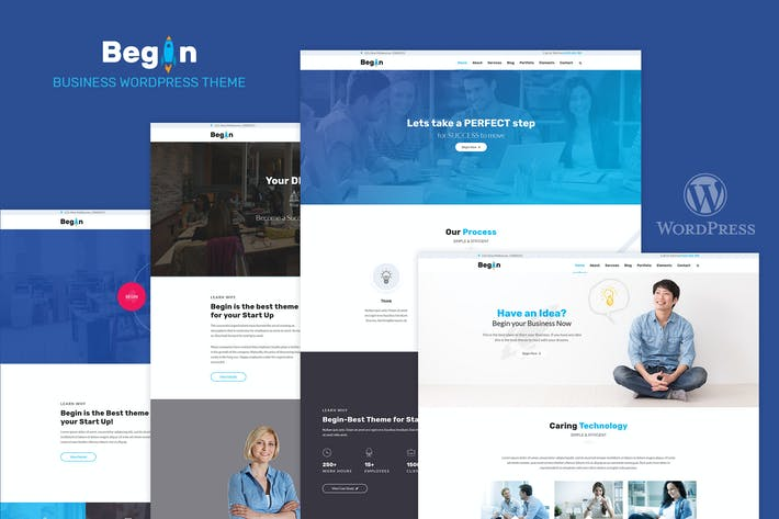 Thumbnail for Begin Startup | Business, Startups Theme