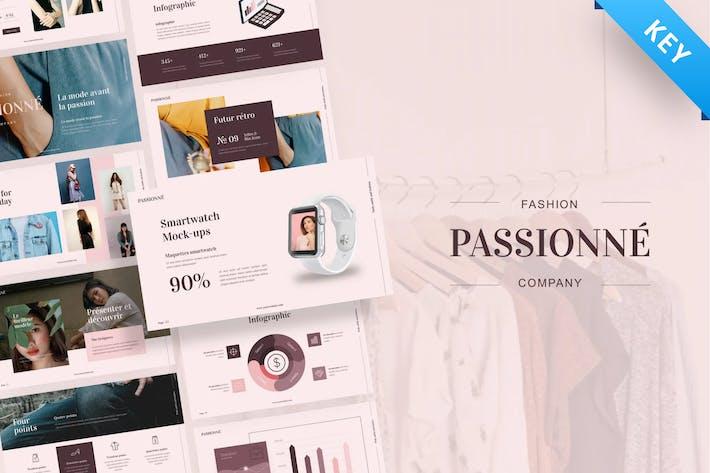 Passionne - Мода Keynote Шаблон