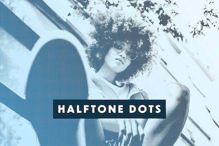Halftone Dots Photo Effect